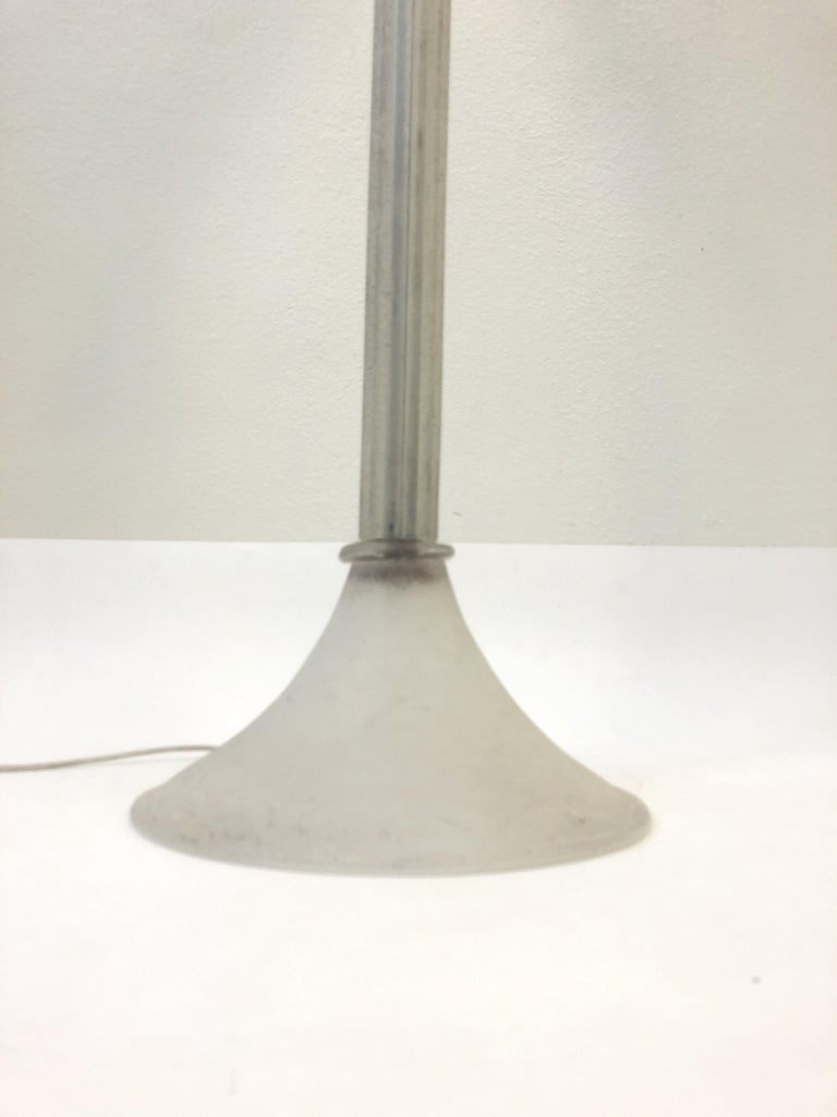 Murano Glass Torchère Floor Lamp by Karl Springer for Seguso For Sale 1