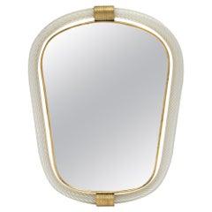 "Murano Glass ""Torsado"" Mirror by Fuga"