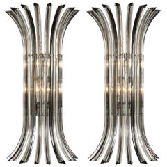"Murano Glass ""Triedi"" Wall Sconces"