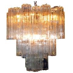 Murano Glass Tronchi Pendant Chandelier by Venini