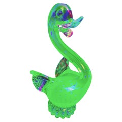 Murano Glass Uranium Bird with Controlled Bubbles