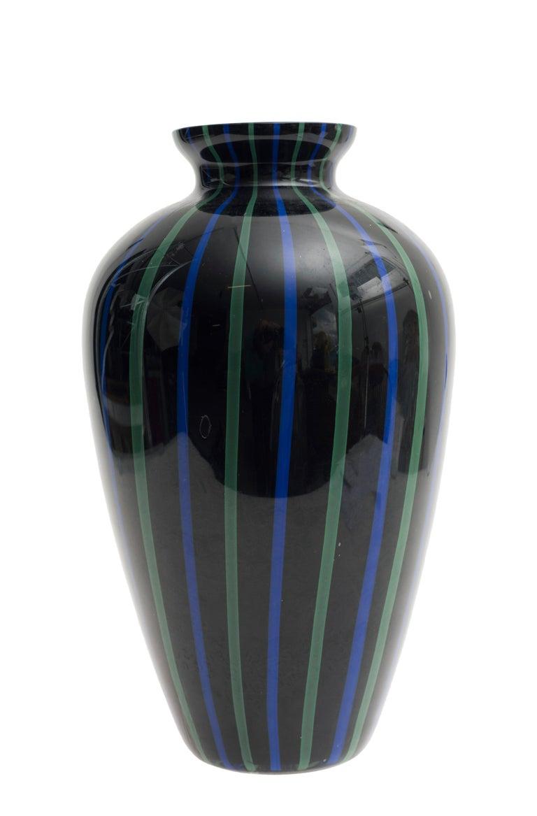 Italian Murano Glass Vase, 1970s For Sale
