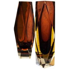 Murano Glass Vase by Alessandro Mandruzzato for G. Campanella, Italy, 1970s