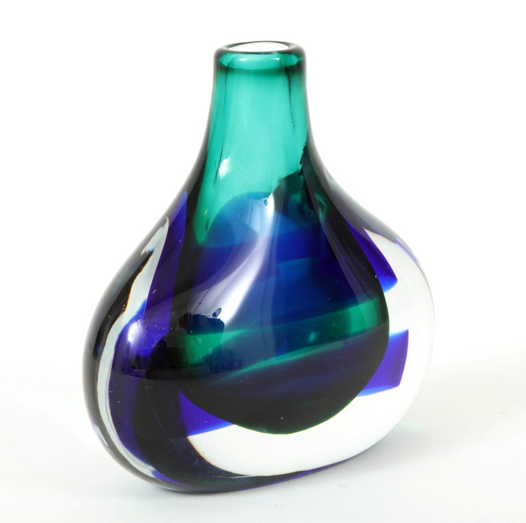 Murano Glass Vase by Luciano Gaspari In Good Condition For Sale In New York, NY