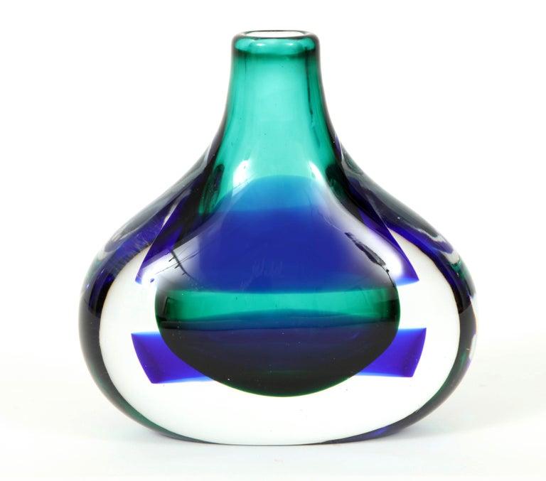 Late 20th Century Murano Glass Vase by Luciano Gaspari For Sale