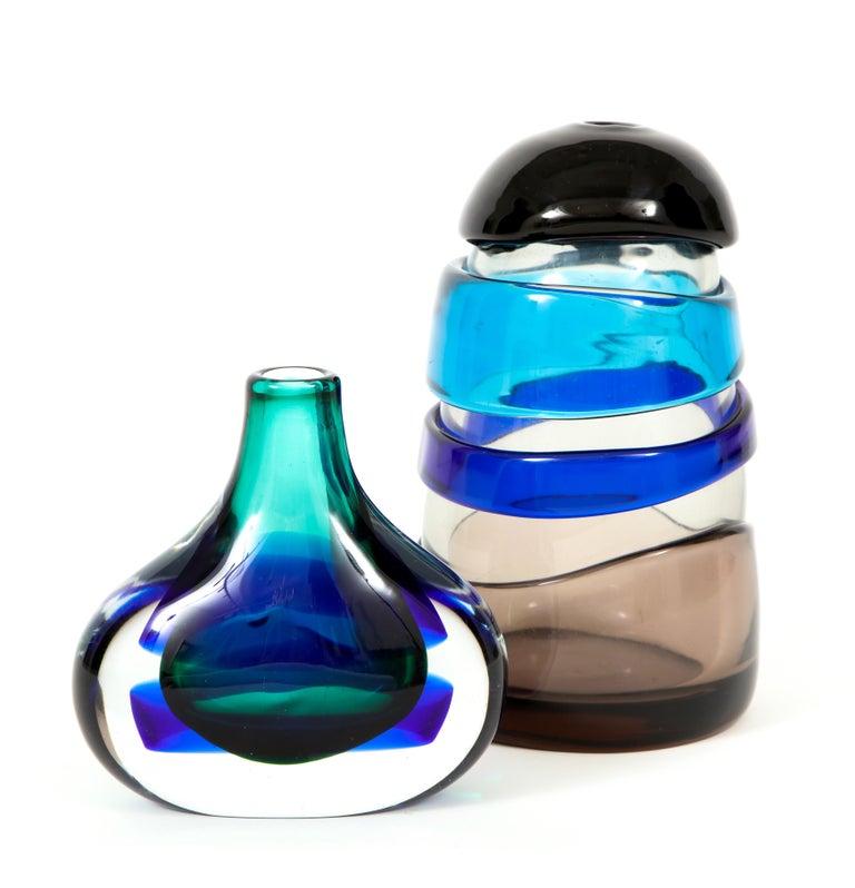 Murano Glass Vase by Luciano Gaspari For Sale 3