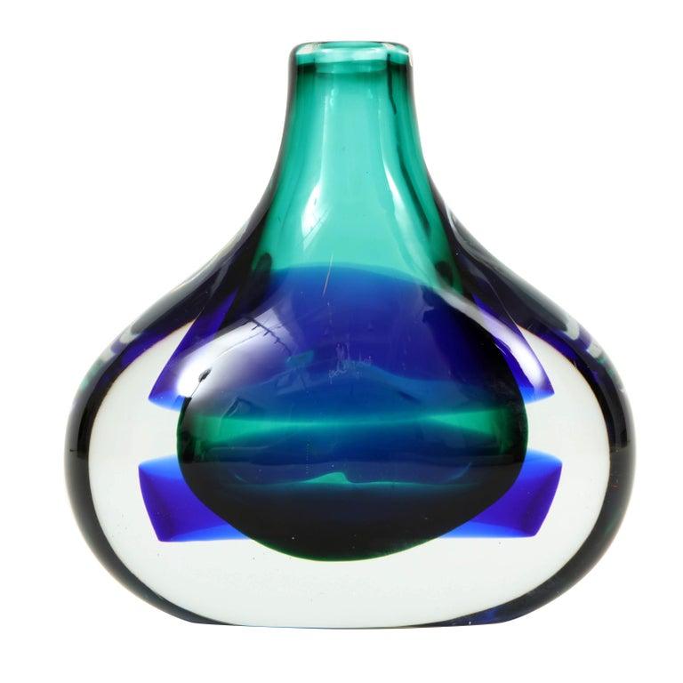 Murano Glass Vase by Luciano Gaspari For Sale