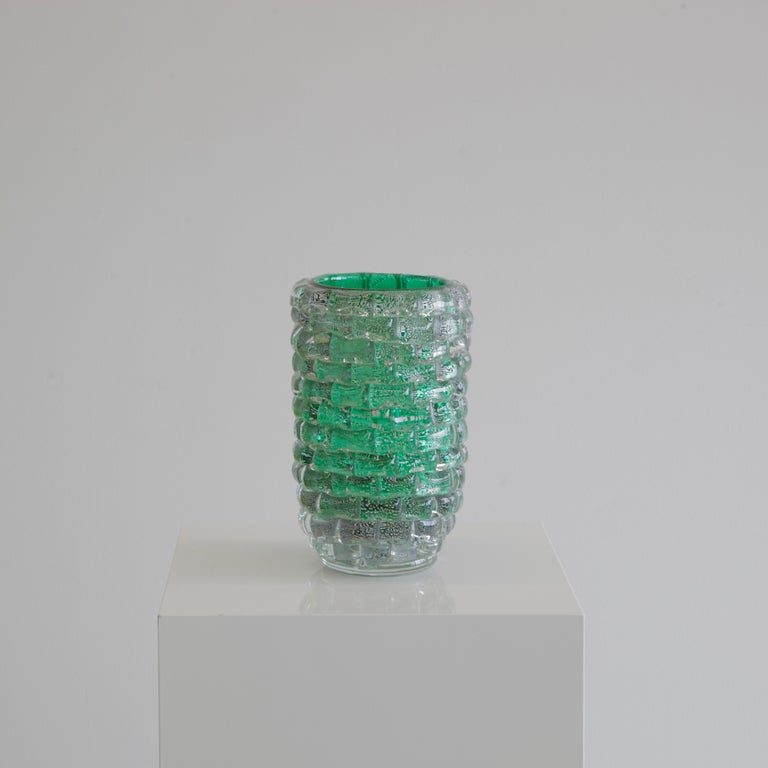 Murano Glass Vase, Italy, Signed In Excellent Condition For Sale In Berlin, Berlin