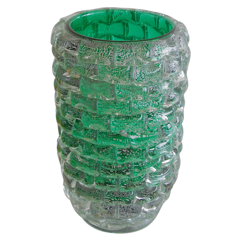 Murano Glass Vase, Italy, Signed