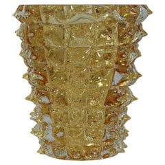 Murano Glass Vase, Italy 'Yellow Spikes'