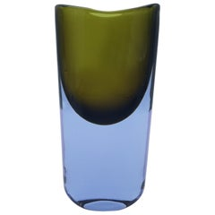 Murano Glass Vase, Lavander and Green by Cenedese Gino, Designer Antonio da Ros