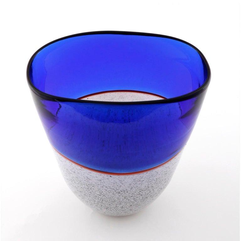 Murano Glass Vase Lino Tagliapietra & Angelin Effetre International, Italy, 1986 For Sale 3
