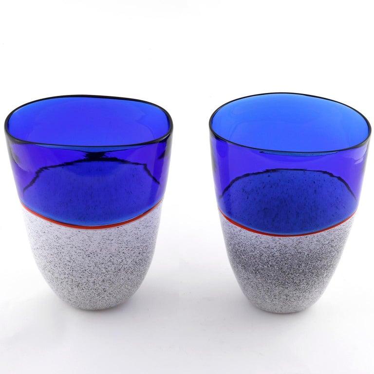 Modern Murano Glass Vase Lino Tagliapietra & Angelin Effetre International, Italy, 1986 For Sale