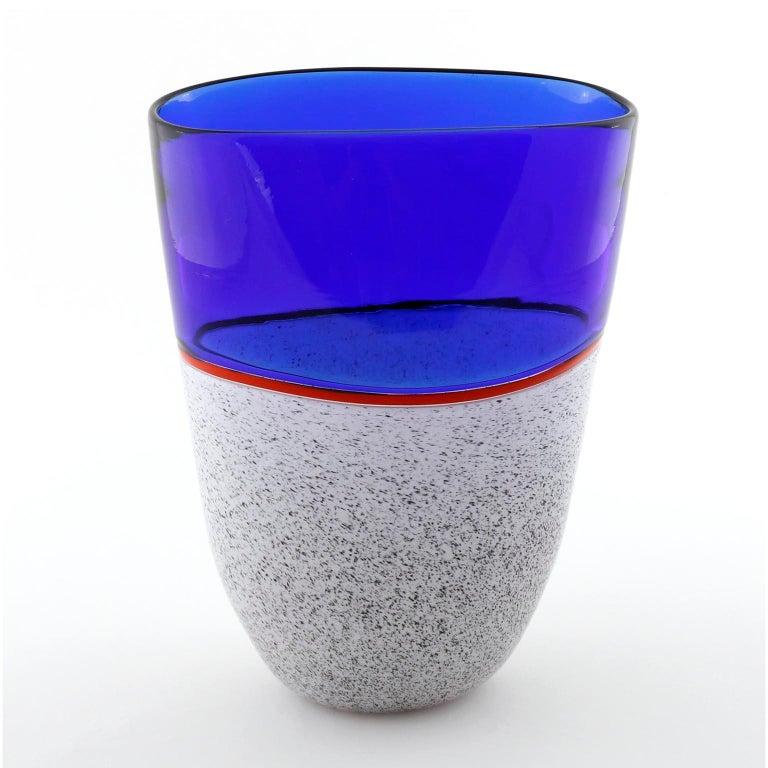 Murano Glass Vase Lino Tagliapietra & Angelin Effetre International, Italy, 1986 For Sale 1