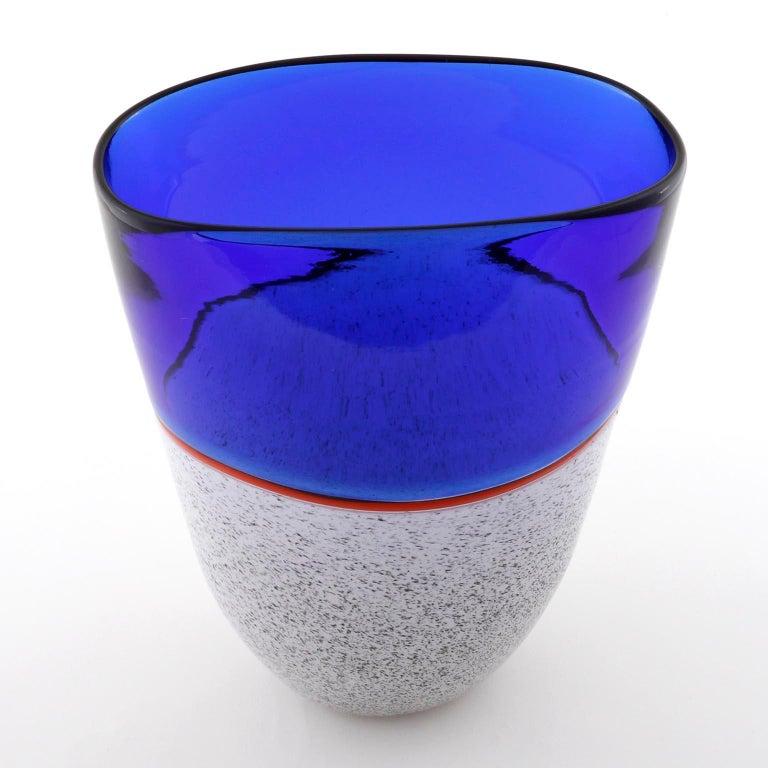 Murano Glass Vase Lino Tagliapietra & Angelin Effetre International, Italy, 1986 For Sale 2