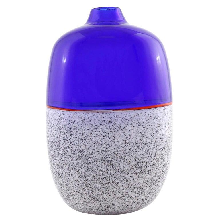 Murano Glass Vase Lino Tagliapietra & Angelin Effetre International, Italy, 1986 For Sale