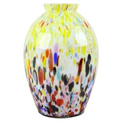 Murano Glass Vase Midcentury Multicolored, Italy, circa 1960