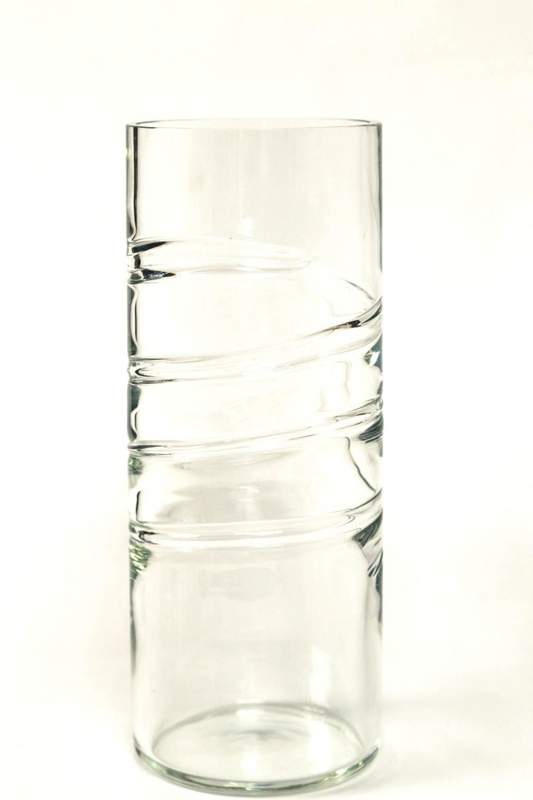 Italian Murano Glass Vase, Signed Barbini, 20th Century, Italy For Sale