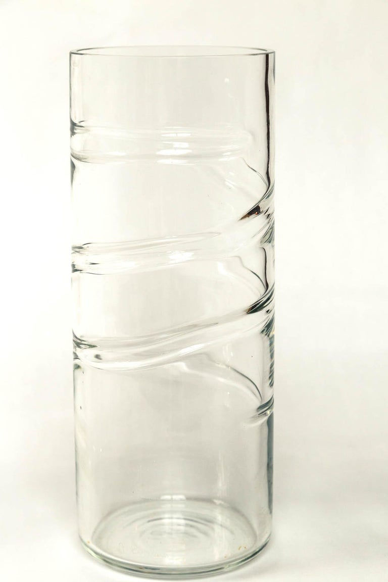 Murano Glass Vase, Signed Barbini, 20th Century, Italy In Good Condition For Sale In Chappaqua, NY