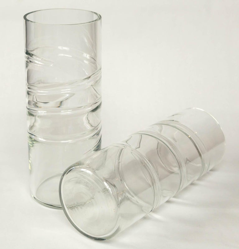 Murano Glass Vase, Signed Barbini, 20th Century, Italy For Sale 2
