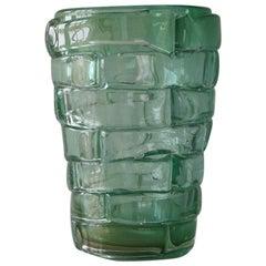 Murano Glass Vase, Signed