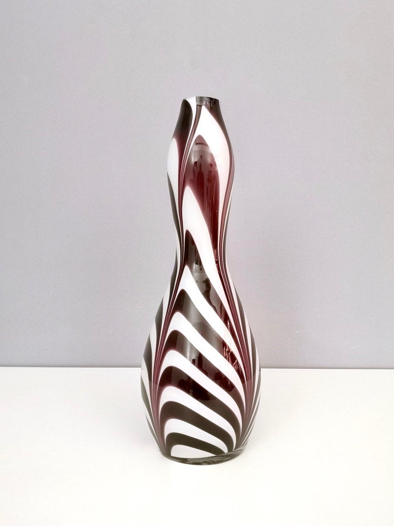 "Italian Murano Glass Vase ""Wave"" by Carlo Moretti, Italy, 1970s For Sale"