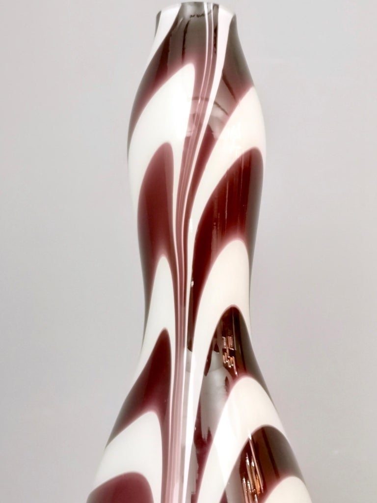 "Late 20th Century Murano Glass Vase ""Wave"" by Carlo Moretti, Italy, 1970s For Sale"
