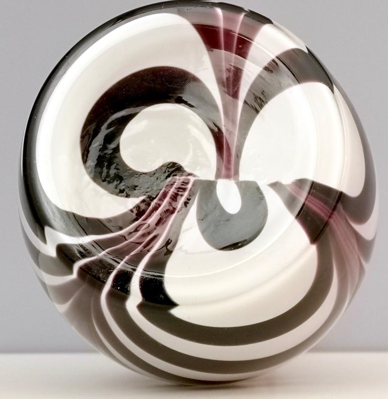 "Murano Glass Vase ""Wave"" by Carlo Moretti, Italy, 1970s For Sale 2"