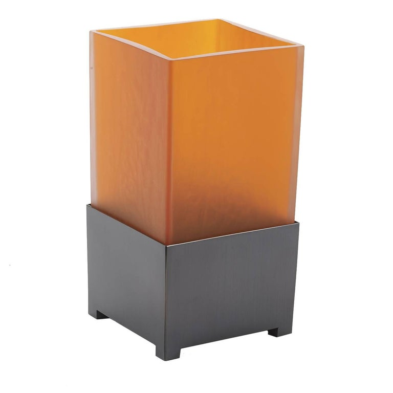 Murano Glass Vase Orange For Sale At 1stdibs
