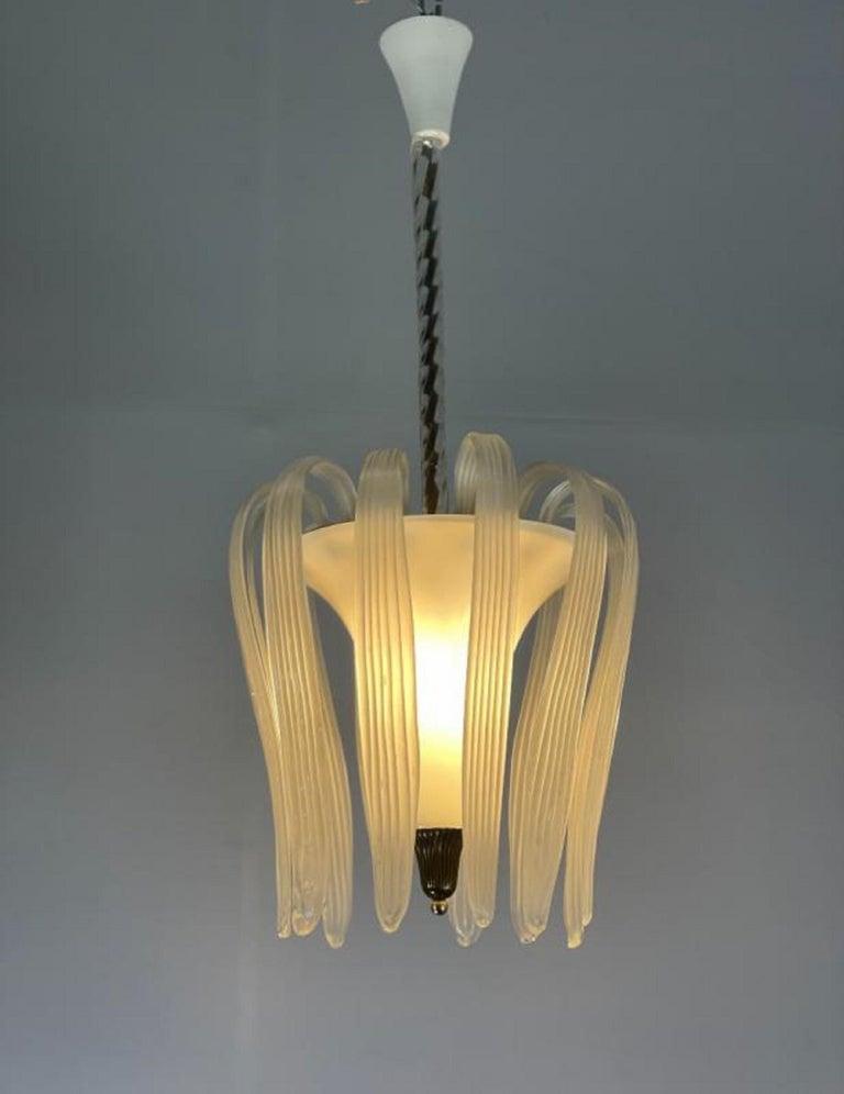 Murano glass Venini chandelier - Italy 1950s