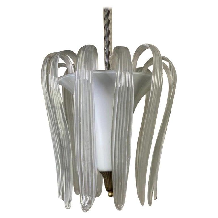Murano Glass Venini Chandelier - Italy 1950s For Sale