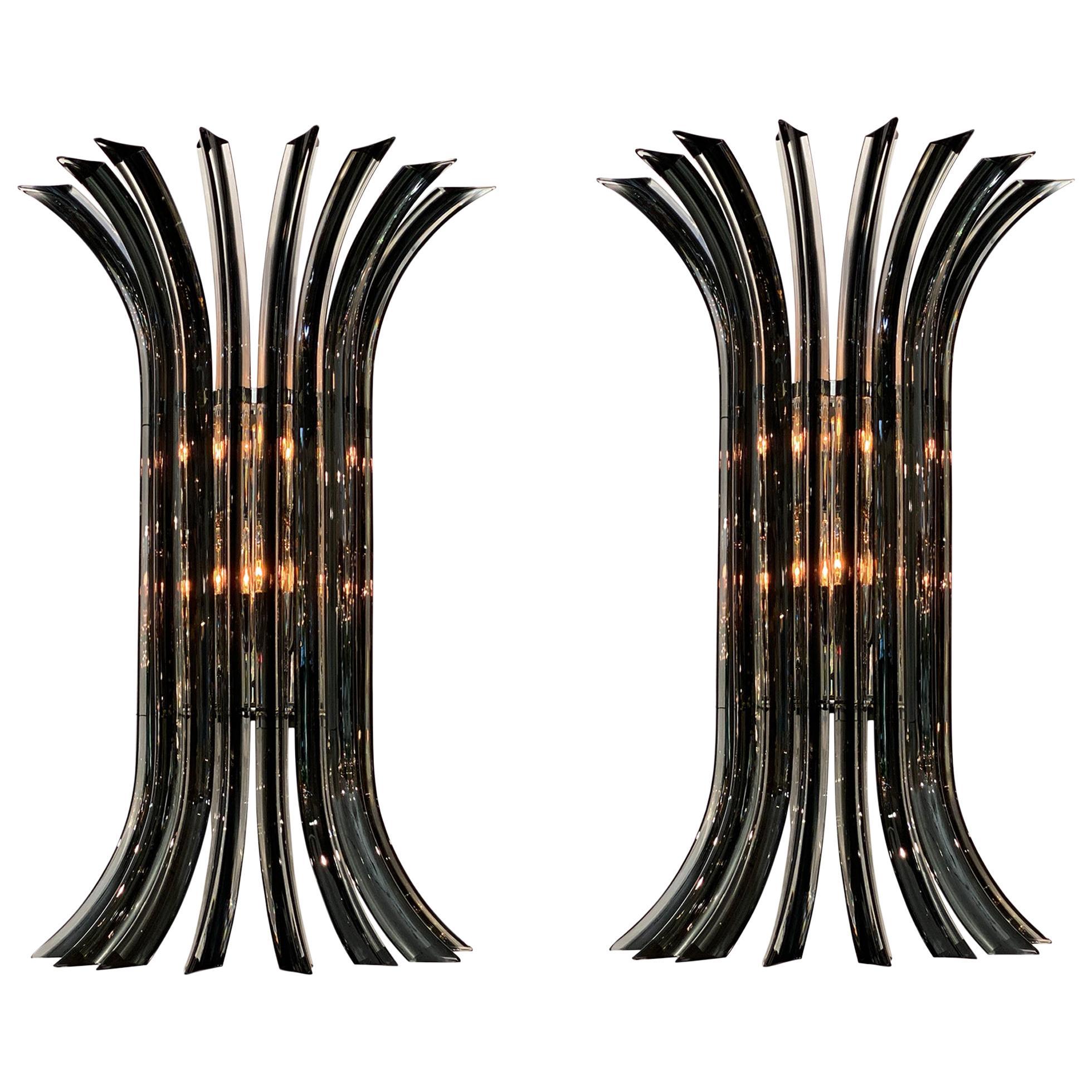 Murano Glass Venini Curved Sconces