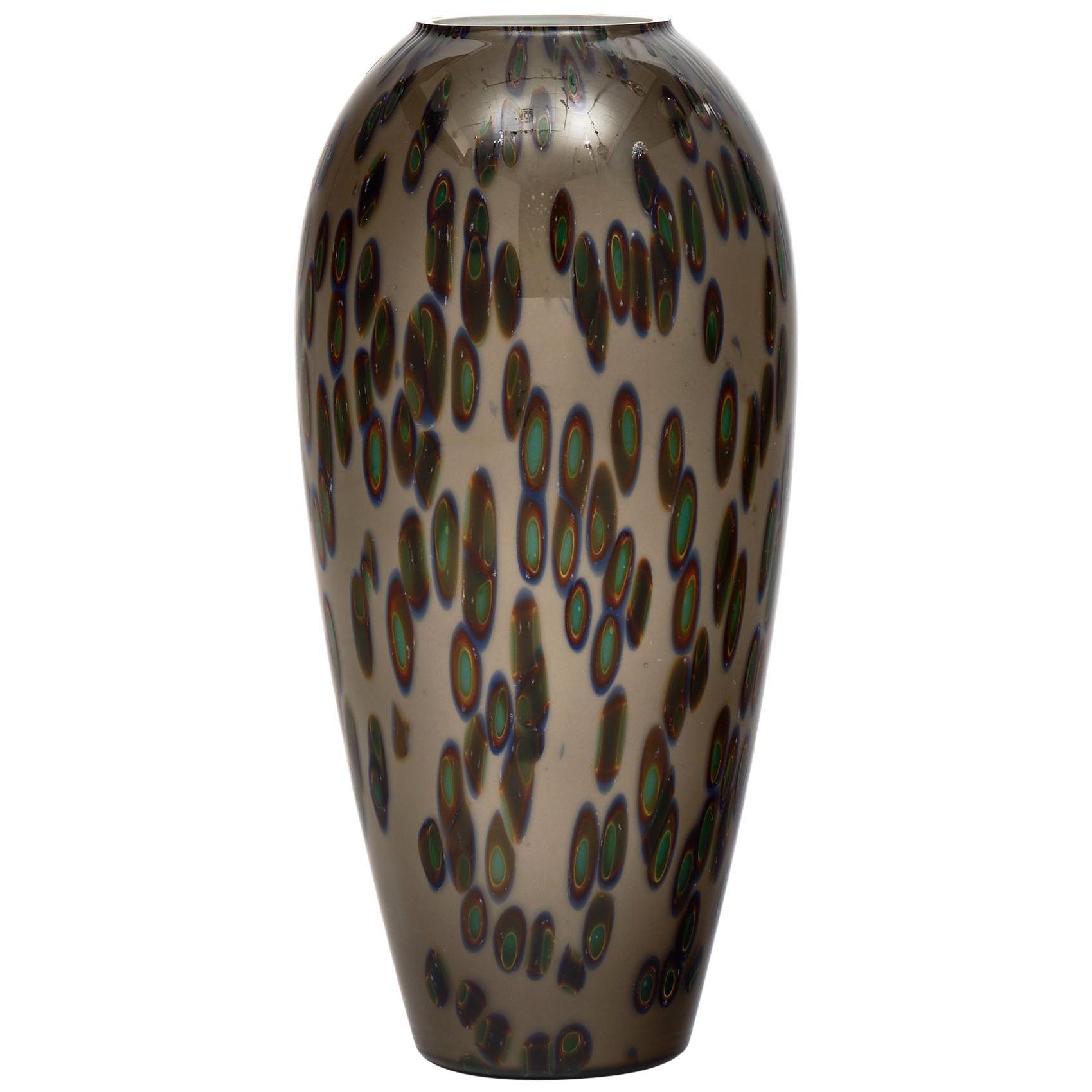 "Murano Glass Vintage ""Murrine"" Vase"