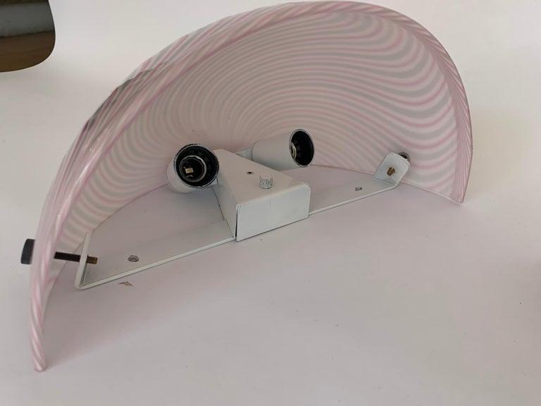 Late 20th Century Murano Glass Wall Lamps Model Samarcanda by Lino Tagliapietra F3 International For Sale