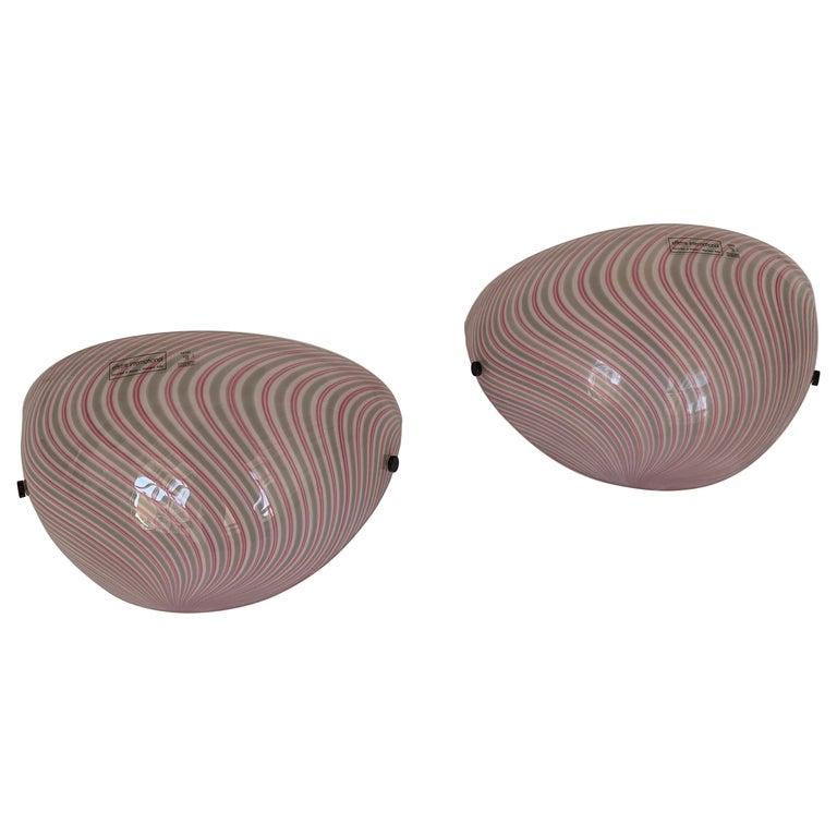 Murano Glass Wall Lamps Model Samarcanda by Lino Tagliapietra F3 International For Sale