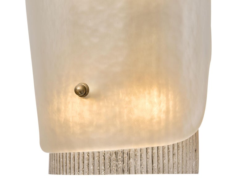 Mid-Century Modern Murano Glass Wall Sconces For Sale