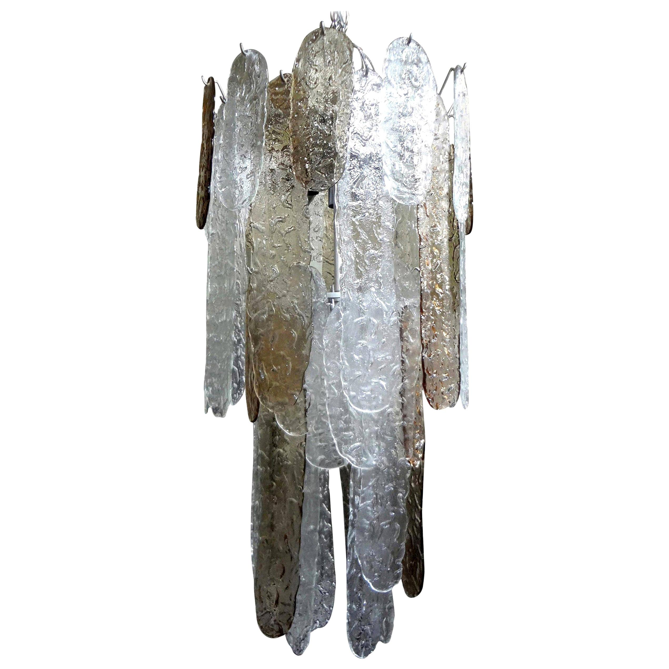 Murano Glass Waterfall Chandelier by Carlo Nason for Mazzega