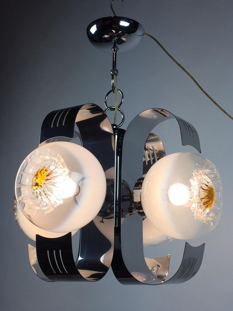 1970s modern chandelier - Pendant - Hanging lamp - Ceiling lamp - Space Age lighting