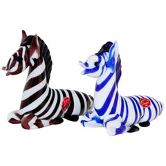 Murano Glass Zebras, Italy, 20th Century
