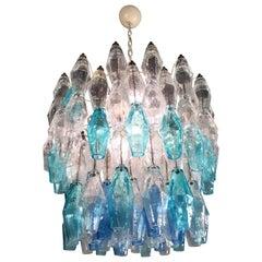 Murano Glasse 133-Colored Poliedri Chandelier