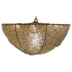 Murano Gold Flowers Basket Chandelier