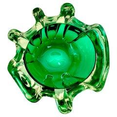 Murano Green Glass Bowl