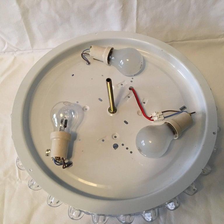 Murano Ice Glass Flush Mount Lamp For Sale 2
