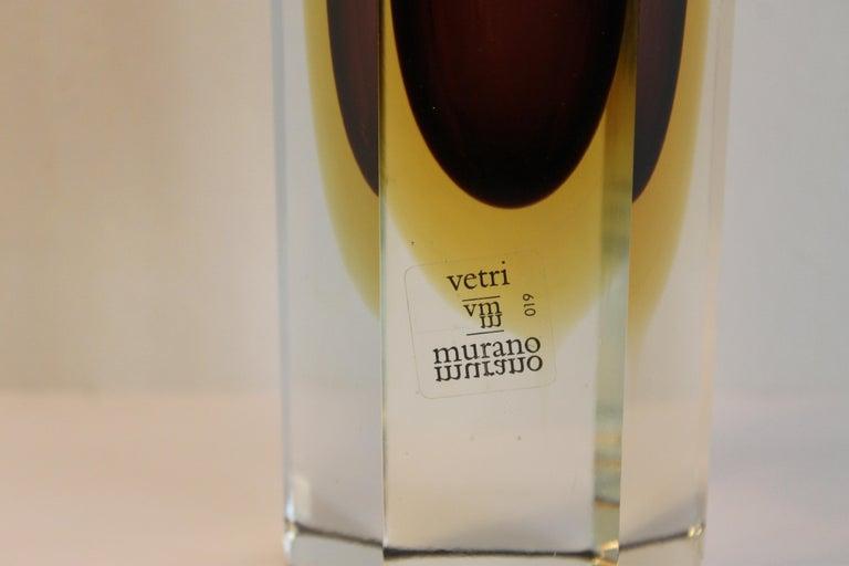 Mid-Century Modern Murano Italian Vitri Vase For Sale