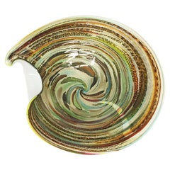 Murano Italy Avem Tutti Frutti Zanfirico Latticino Art Glass Bowl, 1950s