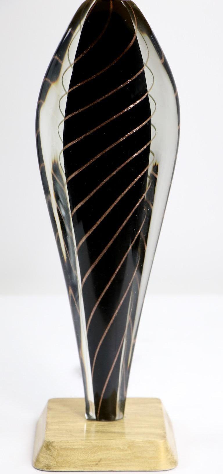 Murano Lamp by Flavio Poli For Sale 3