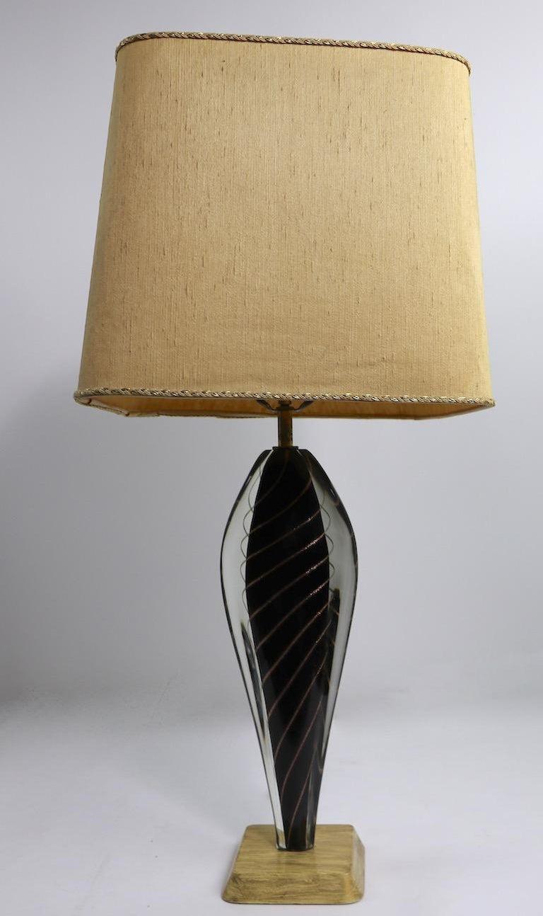 Murano Lamp by Flavio Poli For Sale 4