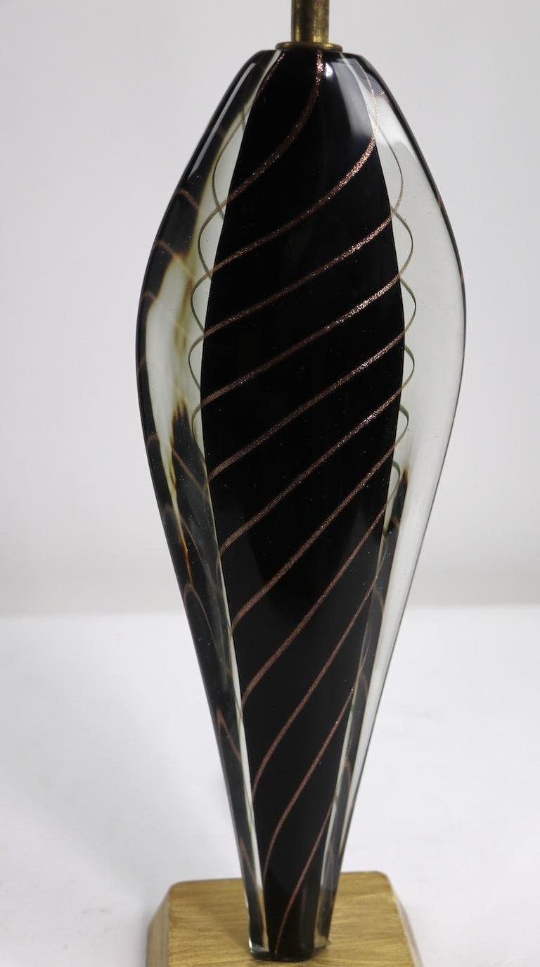 Mid-Century Modern  Murano Lamp by Flavio Poli For Sale