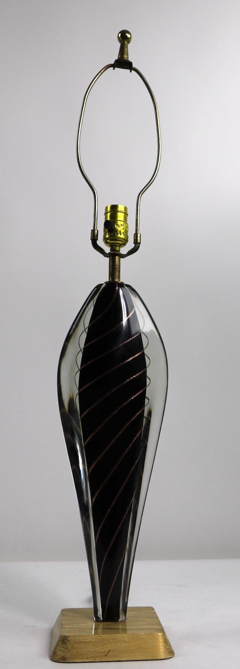 Italian  Murano Lamp by Flavio Poli For Sale