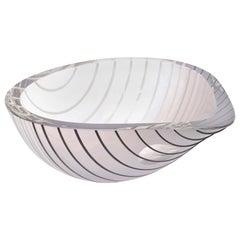 Murano Livio Seguso Glass Bowl Vintage
